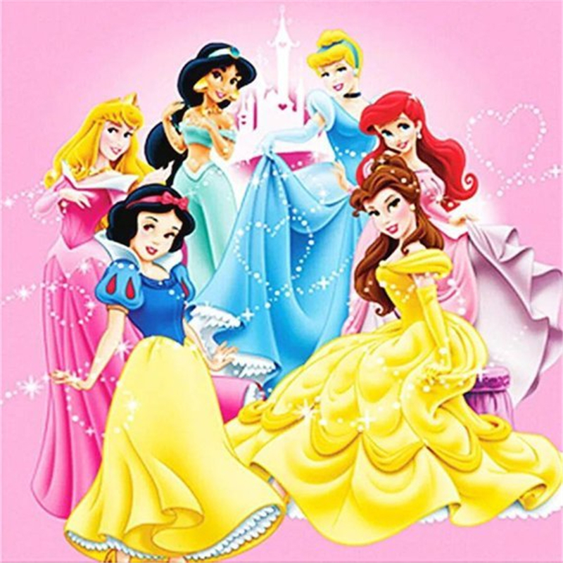 5D Diamond Painting Disney Square Mosaic Picture Embroidery Cartoon girls