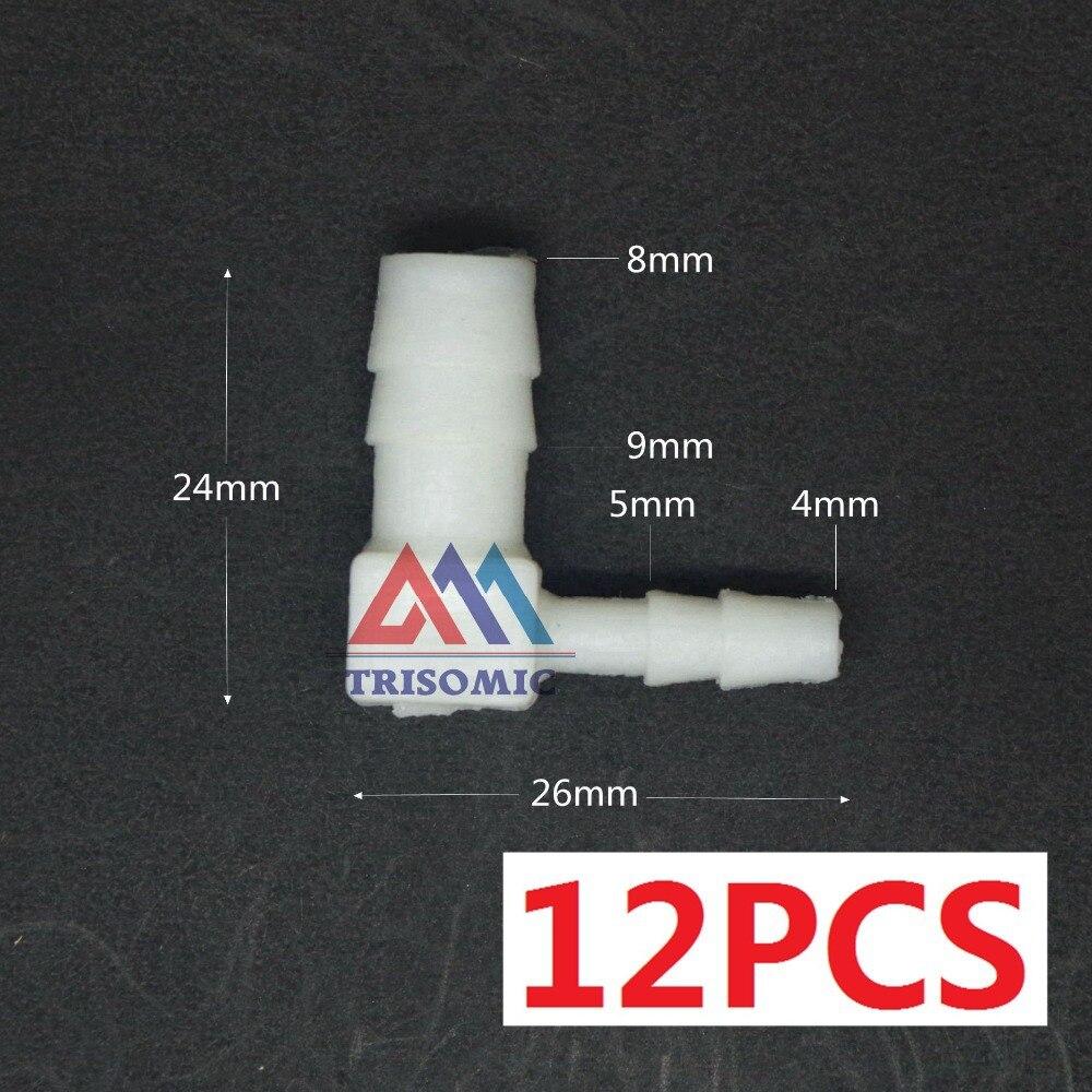 12 Stücke 4mm Sanitär 8mm Elbow Reduzierung Aquarium Verbindungsrohr Joiner Material Pe Kunststoff Montage Aquarium Airline Mit Einem LangjäHrigen Ruf Rohrverbindungsstücke