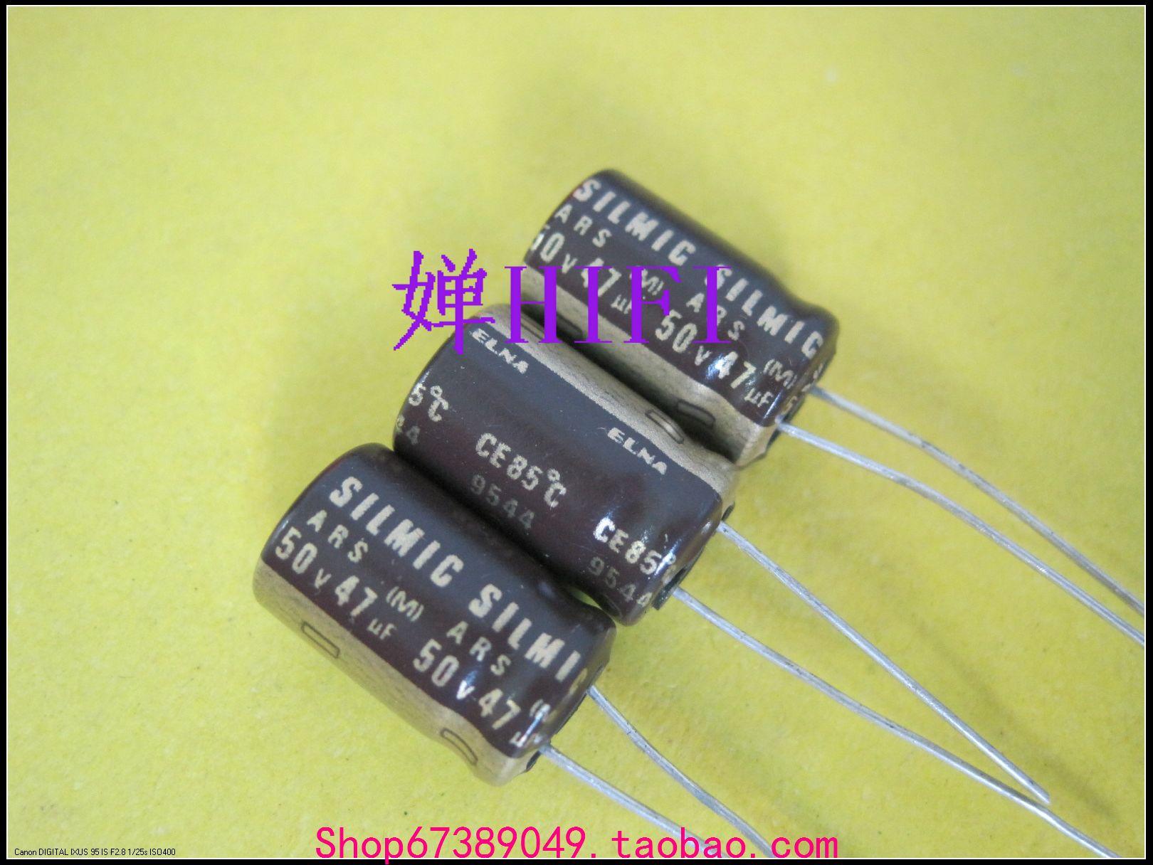 50pcs Imported ELNA original SILMIC-ARS electrolytic capacitors 50v47uf 10x16mm free shipping