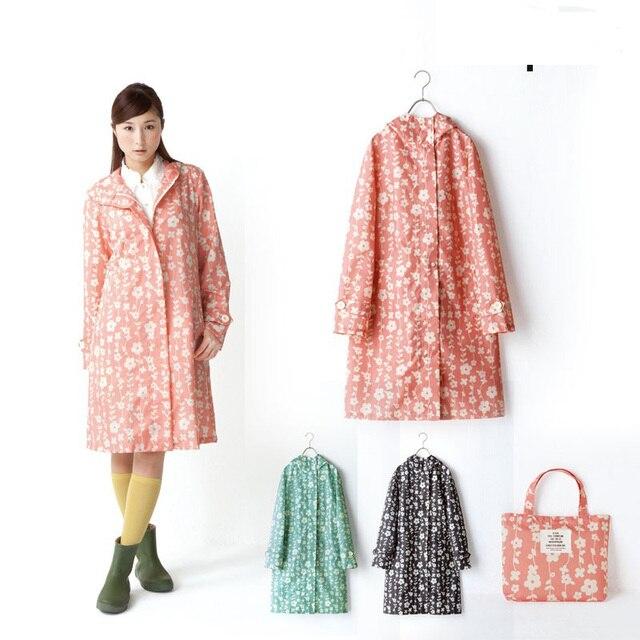Neue Modemarke Frauen Leichte Blume Poncho Damen Wasserdicht Lange