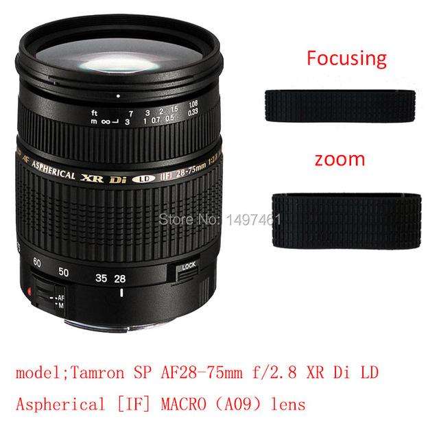 Lente de Zoom y fouse Succedaneum Agarre Anillo de Goma de Reparación Para Tamron SP AF28-75mm f/2.8 XR Di LD Asférico [SI] MACRO lente A09