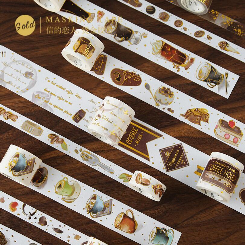 Masking-Tape Calendar Decorative Coffee-Time Travel Retro Scrapbooking Adhesive Dessert
