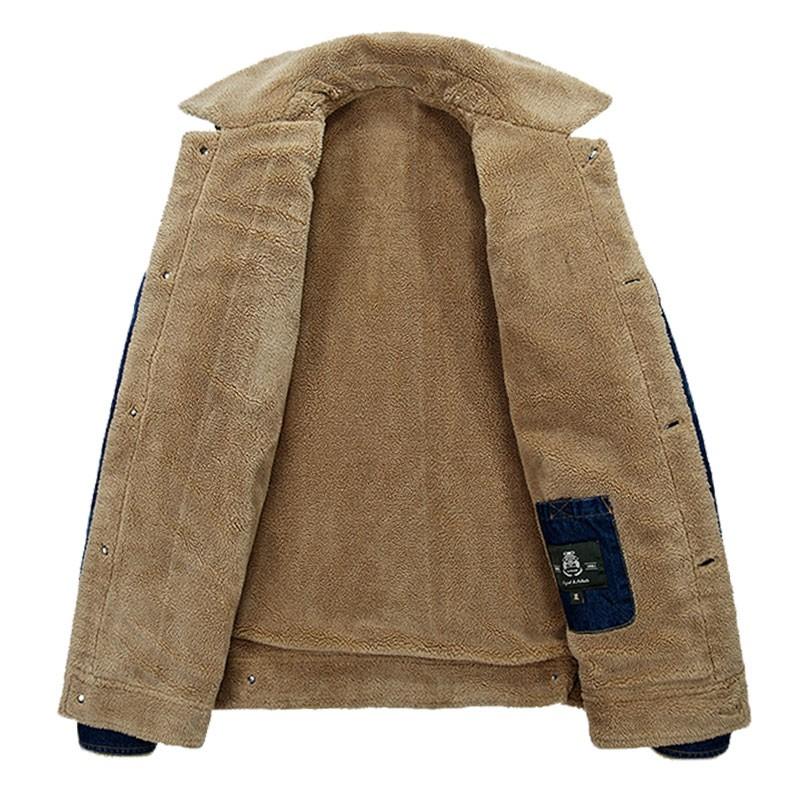 M~4XL New Retro Warm Denim Jackets Mens Jeans Coats Winter Jackets Brand AFS JEEP Thicken Denim Coat Men Outwear Male Asian Size (5)