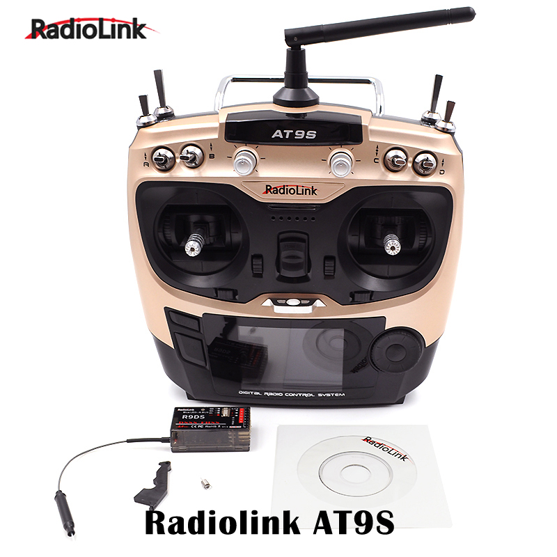 Radiolink AT9S 2.4G 10CH Transmitter Remote Control AT9 Upgraded With R9DS Receiver for RC camera Drone Boat helicopter parts mini drone rc helicopter quadrocopter headless model drons remote control toys for kids dron copter vs jjrc h36 rc drone hobbies