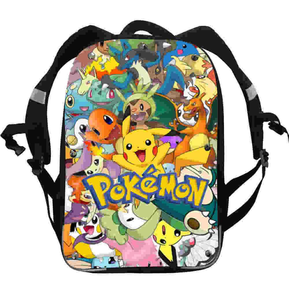 436057847551 Pokemon Pikachu Anime Backpacks Team Valor Snorlax Mario Dog Boys Girls  Teenager School Bags Mochila Box