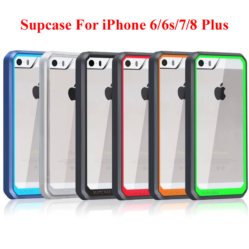 EVANKALX Armor Hybrid Hard Back Cover For iPhone 7 8 6s 6 X Transparent SUPCASE Shockproof Phone Case For iPhone 6 6S 7 8 Plus