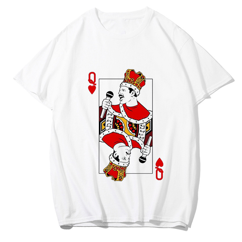Freddie Mercury   T     Shirt   The Queen Band Lead Singer Hip Hop Casual Printing Tshirts Harajuku Men Top Tee   shirts   streetwear NZ021