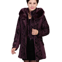 2017 New Middle Aged Winter Jacket Women Thicken Warm Cotton Padded Slim Female Plus Size 5XL