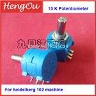 5 pieces Hengoucn 102 presses Potentiometer, 10K potentiometer, Import potentiometer