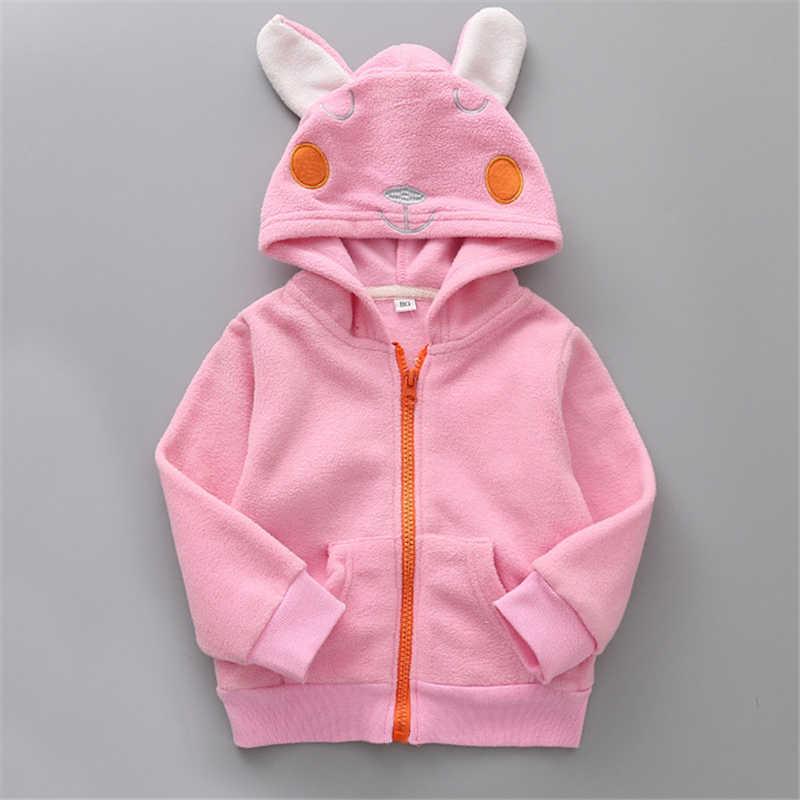 2e8b14874 Baby Boys Girls Sweatshirt Cartoon Hoodie clothing Velvet Children Coat  Panda duck rabbit dinosaur Animal Kids Jacket