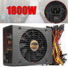 80 PLUS Platinum Mining Power Supply 1800W Pc Bitcoin Miner R9 380 390 RX 470 480