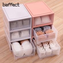 Baffact PP Schublade Schrank Veranstalter Boxen für Schal Socken Kleiderschrank Unterwäsche BH Aufbewahrungsbox Desktop kosmetische Kleinigkeiten Finishing