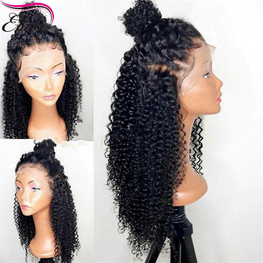 Glueless Full Lace Human Hair Wigs For Black Women Brazilian Kinky Curly Lace Wig Pre Plucked Hairline With Baby Hair Remy Hair