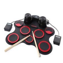 Hand Drums, Electronic Jazz Drum Games, Electric Portable Folding Adult Children's Performances.