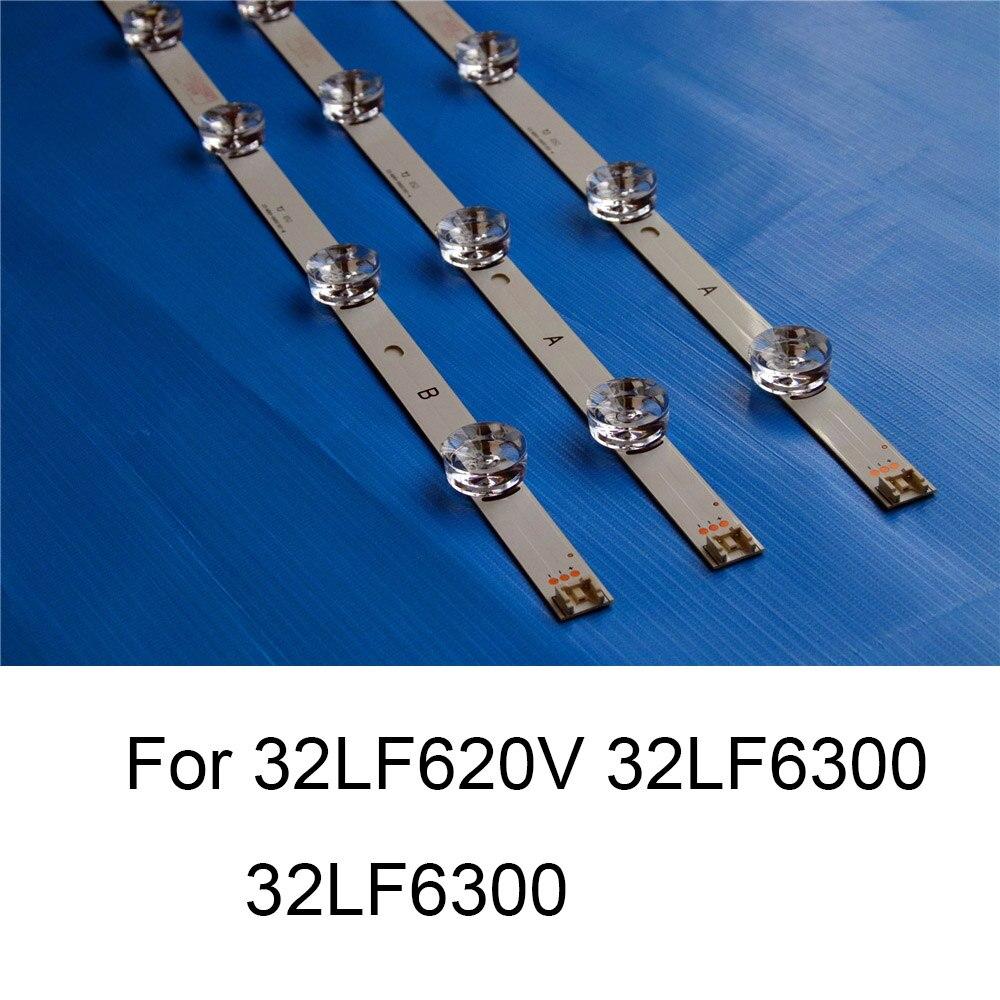 Tüketici Elektroniği'ten Kabuk ve Gövde Parçaları'de Marka yeni LED arka ışık şeridi için 32LF620V 32LF6300 32LF6309 TV tamir LED aydınlatmalı şeritler çubuklar A B tipi 6 lambaları orijinal