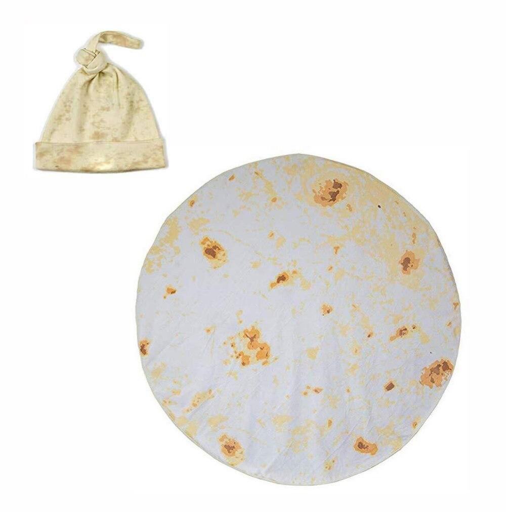 Blanket Mexico Beach-Towel Fleece Soft Round Children Adult Tortilla