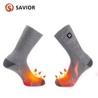 SAVIOR intelligent heating socks winter battery heating socks outdoor sports warm socks heating cotton soft washable