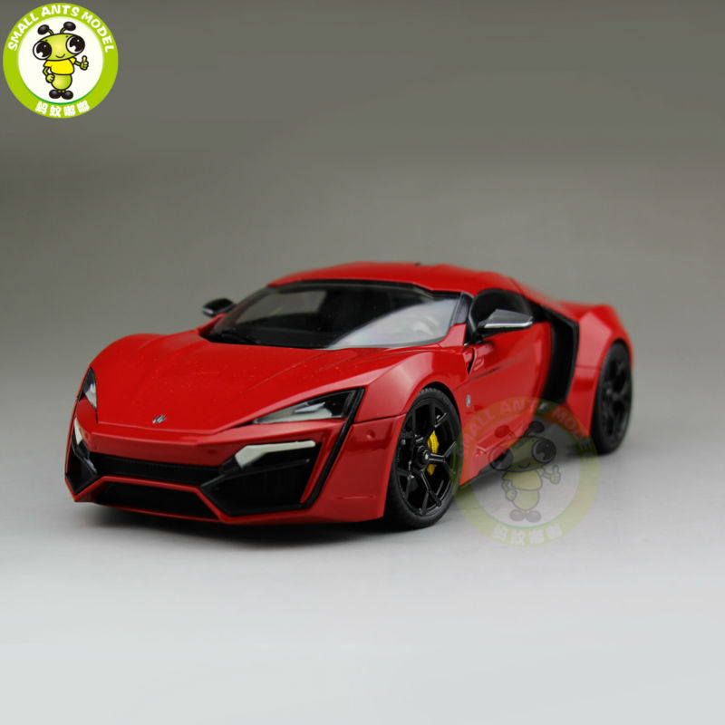 1/18 LYKAN HyperSport Fast & Furious 7 Autocraft W MOTORS Diecast Model Car Red
