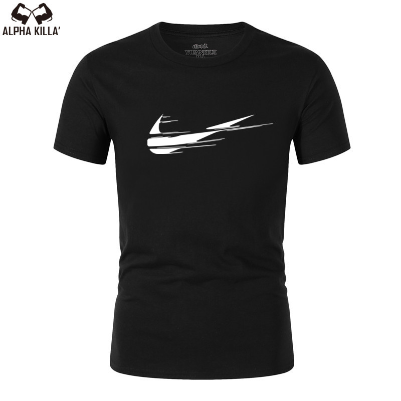 2019 New LOGO brand Solid color T Shirt Mens Black And White 100% cotton T-shirts Summer Skateboard Tee Boy Skate Tshirt Tops(China)