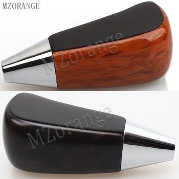 Palanca de cambio de marchas MZORANGE negro/marrón cuero de Color de madera transmisión automática para Toyota Land Cruiser LC200 2008-2015 1 pieza