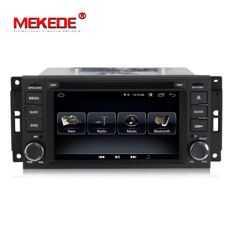 Wholesale android 8 1 car radio audio gps dvd player for JEEP Wrangler Compass Patriot Grand