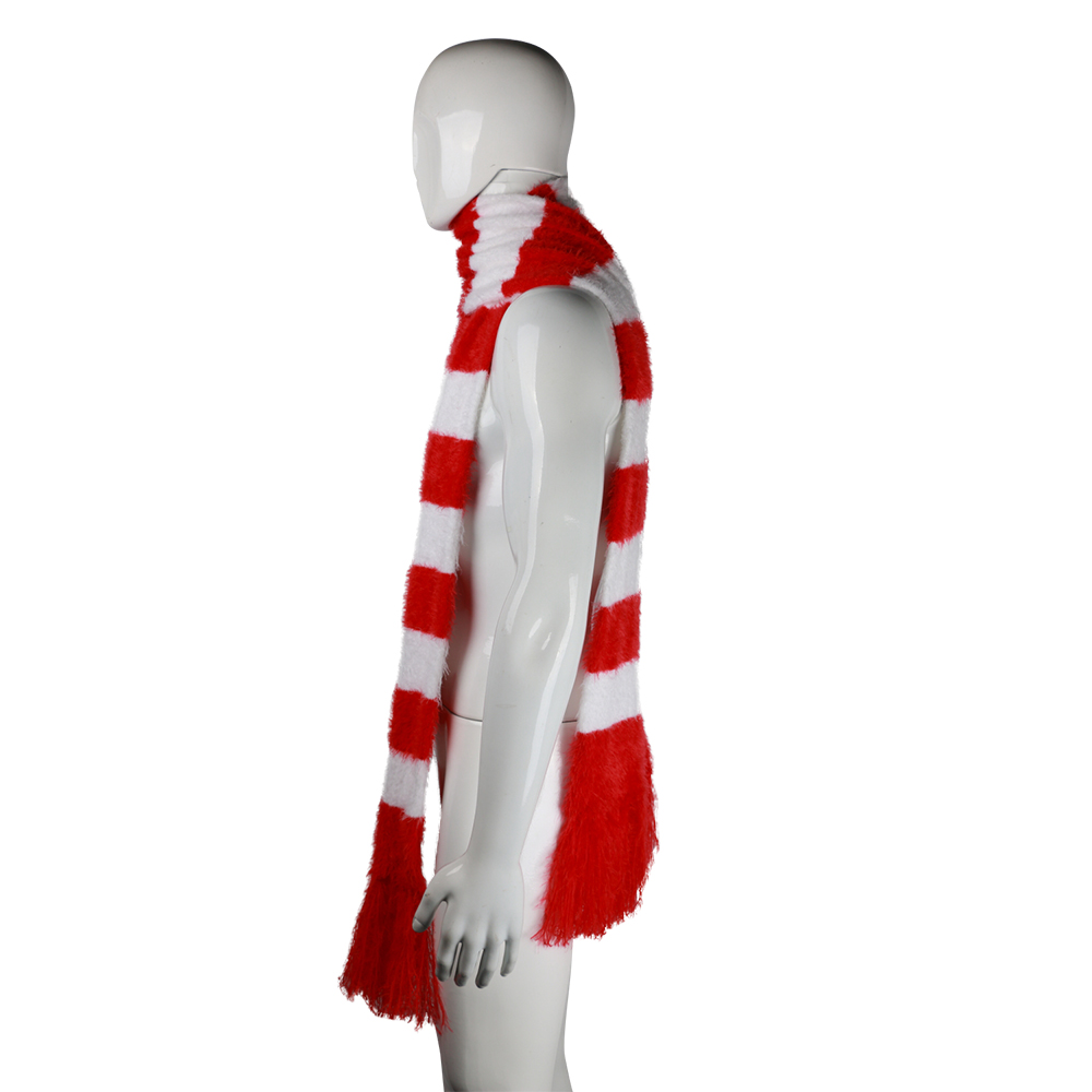 2018 Cartoon The Grinch Scarf Red And White Scarf Cosplay The Grinch Costume Chrismas Gift Halloween Party Prop (10)