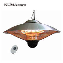 Electric Infrared Ceiling Heater with Remote Control Home Heaters Patio Warmer Double Clear Halogen lamps Aluminum Cover