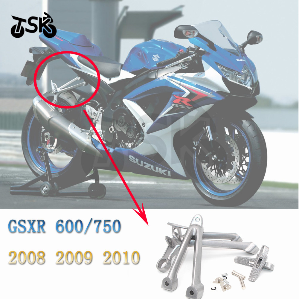 For Suzuki <font><b>GSX</b></font> R 600 <font><b>750</b></font> GSXR-600/<font><b>750</b></font> <font><b>2008</b></font> 2009 2010 Rear Passenger Foot Pegs Footrest Set image