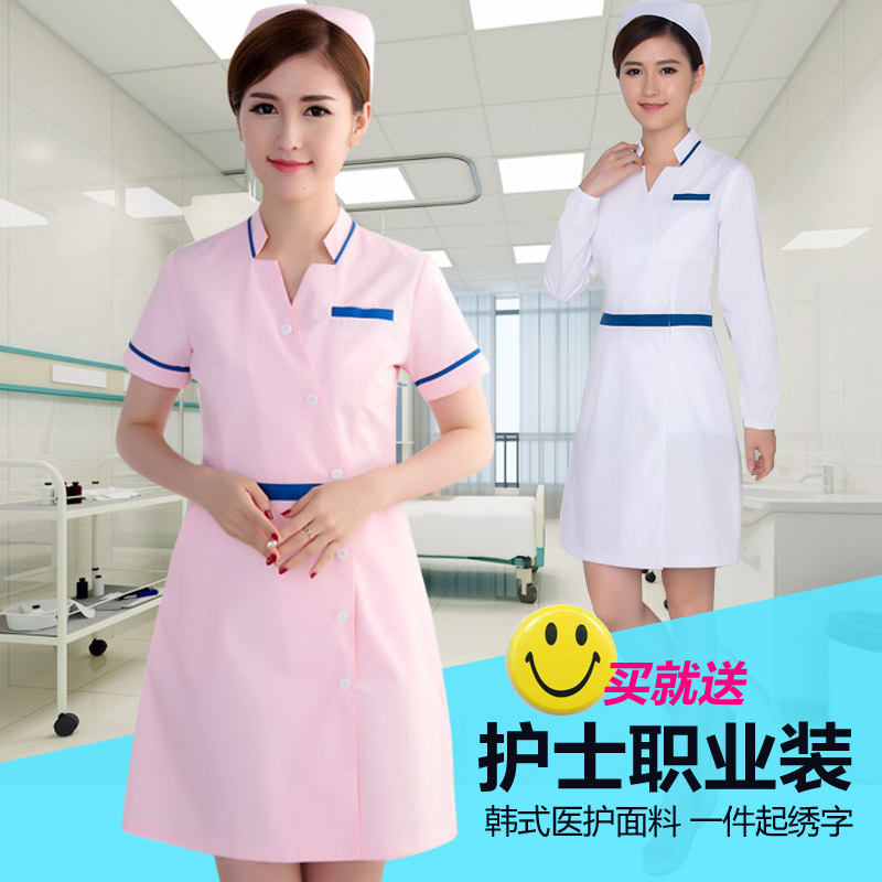 2019 Dental clinic plastic hospital short-sleeve pink and tunic mecidal unfiorm for women