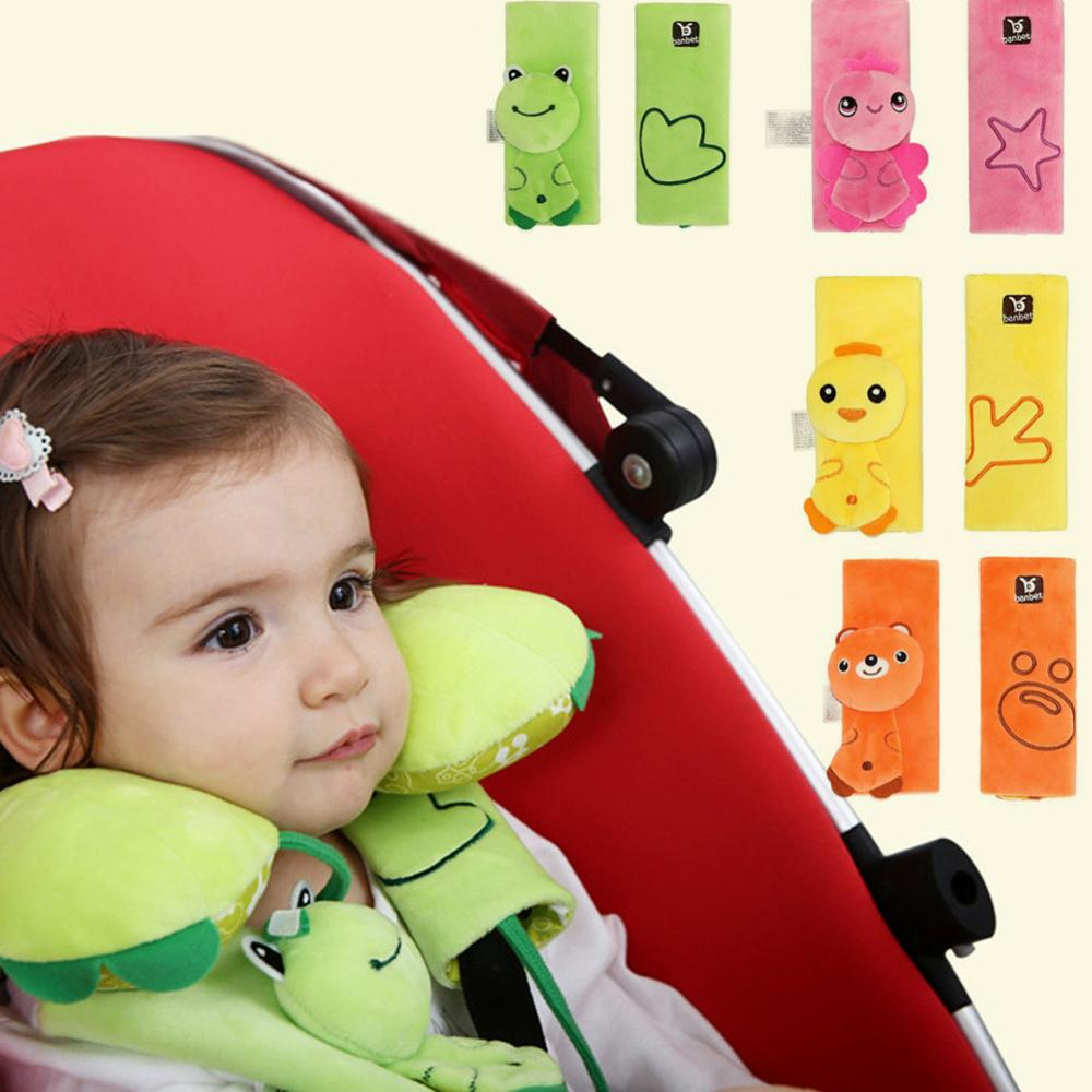 NaiiaN Car Seat Belt Cover Shoulder Guard Creation 3D Cute Cartoon Car Decoration for Child Women Baby Protective Cover Set Interior,Akita