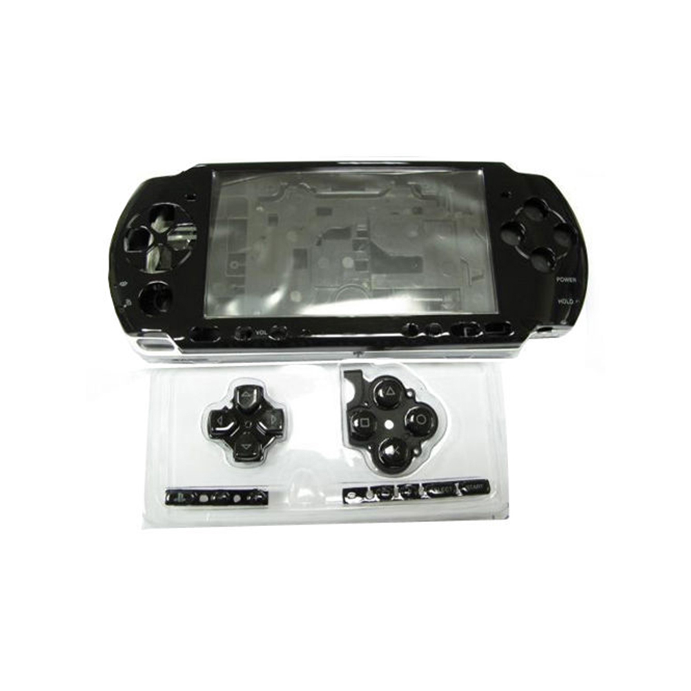 Game Console Parts Full Case With Button Housing Shell Lightweight Durable Replacement Transparent Cover Portable For PSP3000