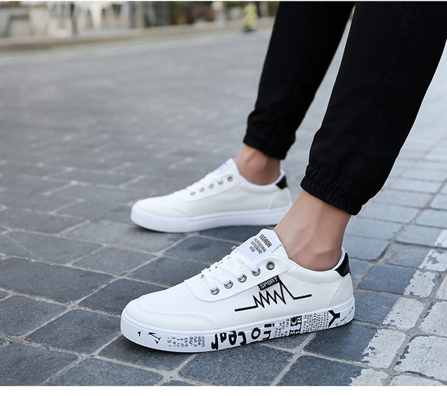 bc120ac5635 SZSGCN New Spring Summer Canvas Shoes Men Sneakers Low top Black Shoes  Men's Casual Shoes Male Brand Fashion Sneakers-in Men's Casual Shoes from  Shoes ...