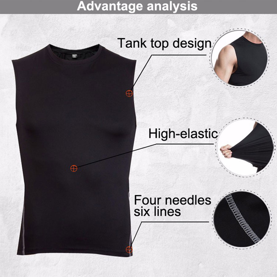 running - Quick Dry Men Running Vest Training Workout Vest Fitness Sports Tank Male Exercise Tights Gym Clothing Sleeveless Mens Tops Tank