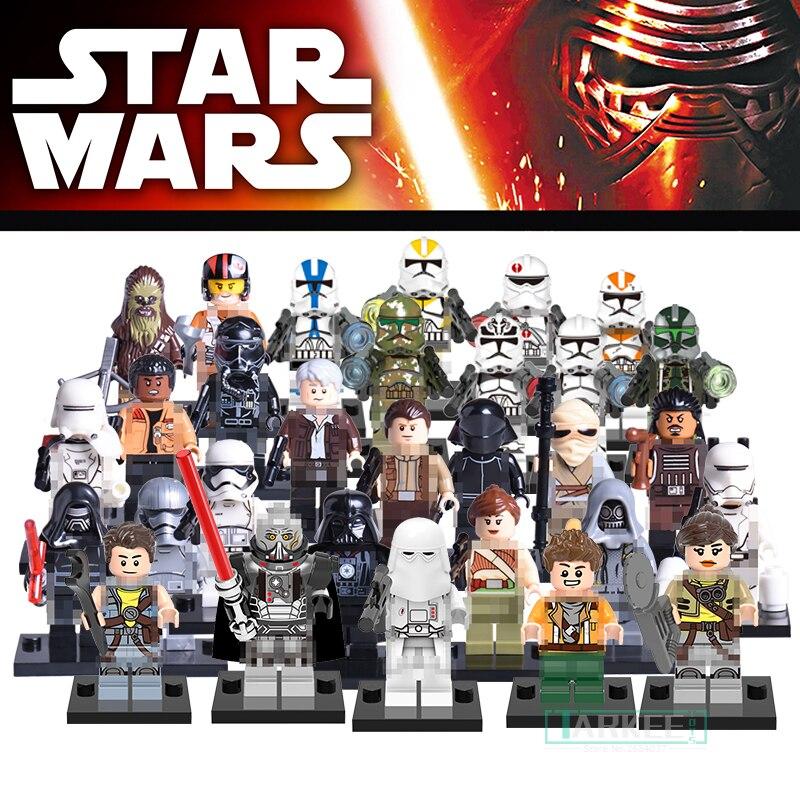 Xinh Children Single Sale Block Star Wars Clone Utapau Trooper Stormtroopers Soldier Rey Organa Figure Bricks Model Kid DIY Toys