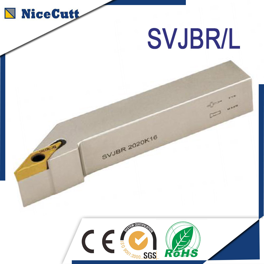Free Shipping SVJBR Indexable External Turning Tool Holder Machine Right Hand Holder SVJBR Series Lathe Cutting Tool Nicecutt
