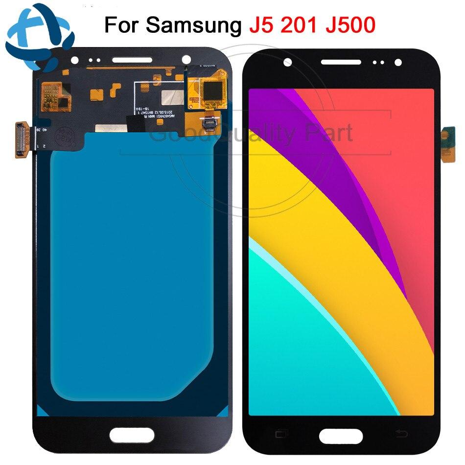5.0 ''AMOLED LCD pour SAMSUNG Galaxy J5 2015 J500 affichage LCD écran tactile J500H J500FN J500F J500M SM-J500F numériseur assemblée