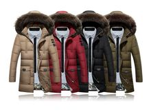 Hot winter males's males's 2016 males's informal jacket zipper down coat thick coat males's clothes M Asian dimension 3XL EDA108  Large dimension