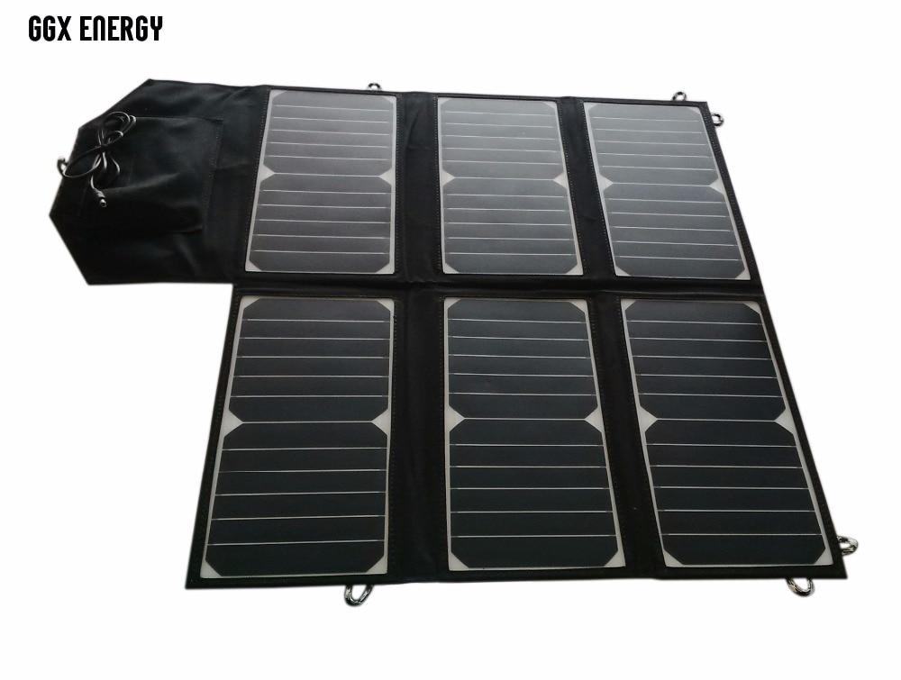 40Watt SUNPOWER Solar Cell Folding Solar Panel Bag+Portable Solar Charger for Phone+10A Solar Controller for 12V Car Battery original gbtiger portable sunpower 40w dual outputs solar charger panel water resistant folding bag outdoor