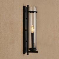 MODERN LED Iron wall lamp glass lampshade wall light for living room bedroom washroom restaurant bar cafe E14 110V 240V