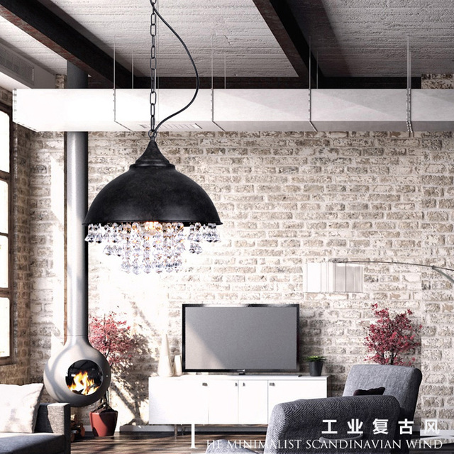 Vintage Industrial Lamp Hanging Pendant Lighting Metal Single - Black hanging kitchen lights
