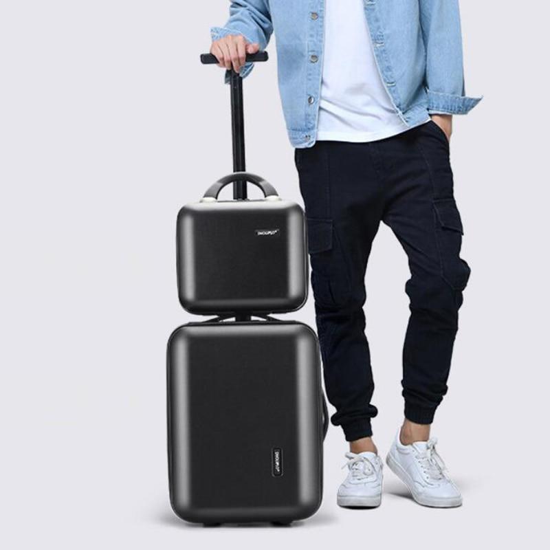 Opowieść podróży 16 cal new arrival kabiny wózek różowy ręcznie do przenoszenia bagażu, na zestaw walizek w Walizka na kółkach od Bagaże i torby na  Grupa 2