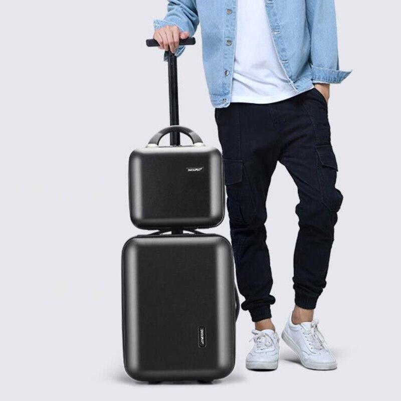 REISE TALE 16 zoll neue ankunft kabine trolley rosa hand gepäck tragen auf koffer set-in Rollgepäck aus Gepäck & Taschen bei  Gruppe 2