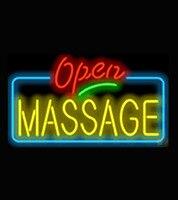 Yeni Sıcak Masaj Açık Tabela Dükkanı Neon Burcu Ticari Açık Neon İşaretler Cam Tüp VD Reklam Işareti Lightin 17*14
