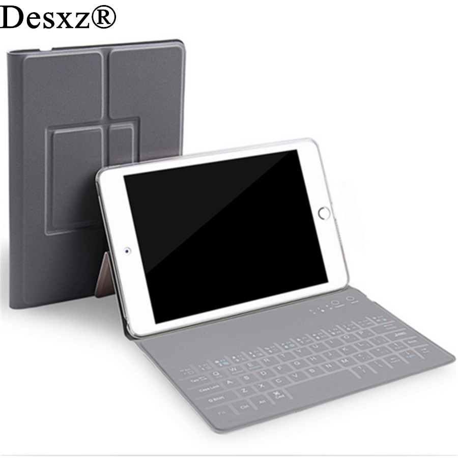 Desxz 10.5 inch Case Wireless Bluetooth Keyboard for ipad Pro Folding Cases Protective Holster Ultra Thin for Tablet IOS widows