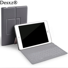 Desxz 10.5″ inch Case Wireless Bluetooth Keyboard for ipad Pro Folding Cases Protective Holster Ultra Thin for Tablet IOS widows