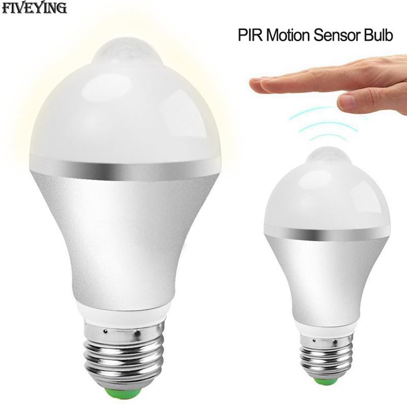 220V LED PIR Motion Sensor lamp 5w e27 led Bulb light 7w Auto Smart LEDs Bulbs Infrared Body Sound bulb Light sensor LED Lamps litake led bulb lamp energy saving motion activated light bulb e27 9w pir infrared motion sensor light pir stairs night light