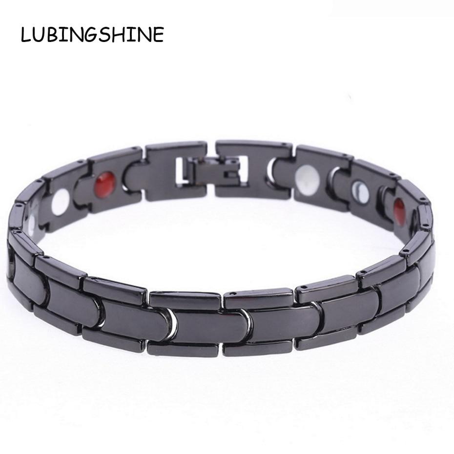 Lubingshine Whole Men Black Energy Health Bracelets Bangle Hot Clic Copper Maget Germanium Chain Jewelry