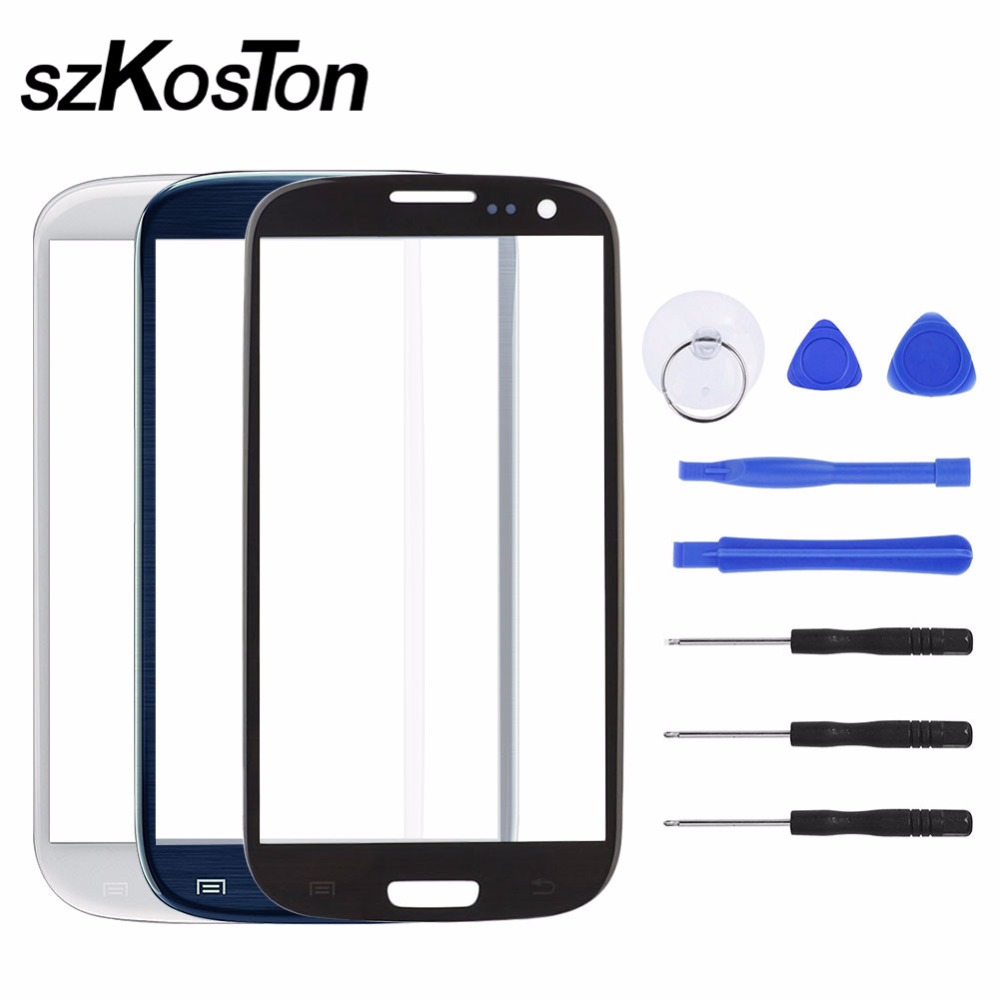 Replacement Front Touch Screen Outer Glass for Samsung Galaxy S3 i9300 i9301 i9305 With tool Touchscreen Replacement Kit