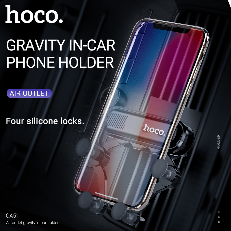 hoco car holder phone cradle in mount air outlet grip cell vent universal for iphone samsung xiaomi android