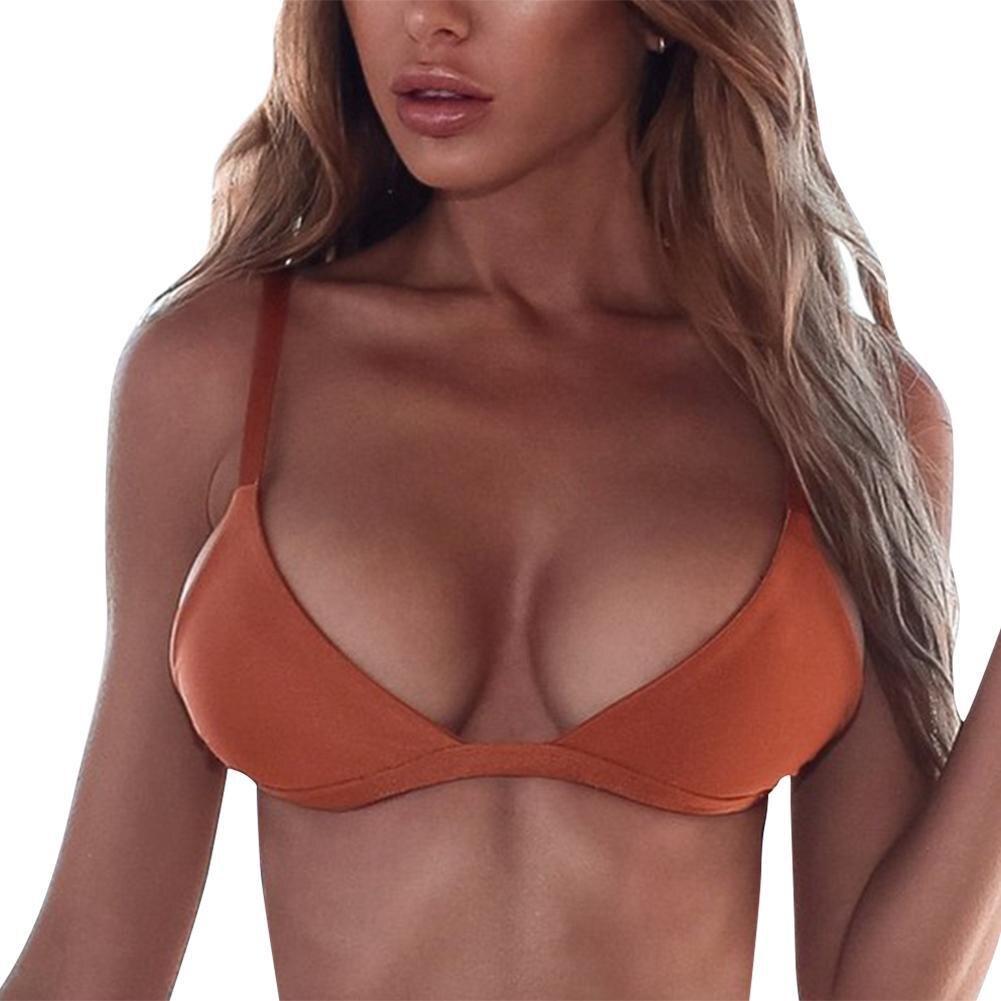 2018 New Sexy Bikinis Women Swimsuit High Waisted Bathing Suits Swim Halter Push Up Bikini Set Padded Bra Bralette Swimwear